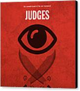 Judges Books Of The Bible Series Old Testament Minimal Poster Art Number 7 Canvas Print