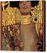 Judith Canvas Print by Gustive Klimt