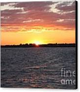 July 4th Sunset Canvas Print by John Telfer