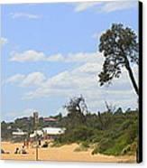 Jump To The Beach Canvas Print by Rachael Curry