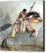 Jumping Horse Canvas Print by Daniel Eskridge
