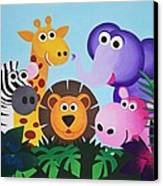 Jungle Canvas Print by Bav Patel