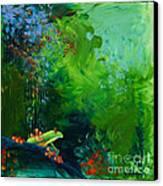 Jungle Rains I Canvas Print by Tracy L Teeter