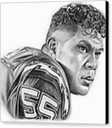 Junior Seau Canvas Print by Don Medina