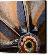 Junkyard Spin Canvas Print by Odd Jeppesen
