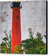 Jupiter Lighthouse Canvas Print by Debra and Dave Vanderlaan