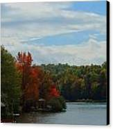 Just A Touch Of Fall Canvas Print by Judy  Waller
