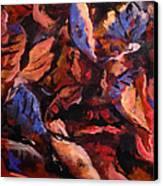 Just Leaf Canvas Print by W  Scott Fenton