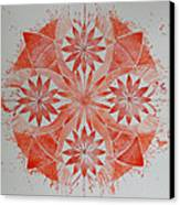Just Red Mandala Canvas Print