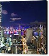 K11 In Tsim Sha Tsui In Hong Kong At Night Canvas Print by Lars Ruecker