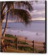 Kai Makani Hoohinuhinu O Kamaole - Kihei Maui Hawaii Canvas Print by Sharon Mau
