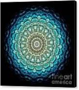 Kaleidoscope Aquamarine Bubbles Canvas Print