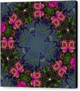 Kaleidoscope Lantana Wreath Canvas Print by Cathy Lindsey