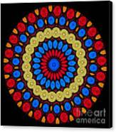 Kaleidoscope Of Colorful Embroidery Canvas Print by Amy Cicconi