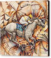 Kaleidoscope Rider Canvas Print by Ricardo Chavez-Mendez