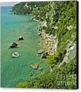 Mirtiotissa Beach . Corfu . Greece.  Canvas Print by  Andrzej Goszcz