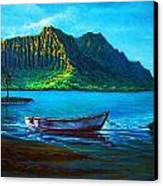Kaneohe Bay Early Morn Canvas Print by Joseph   Ruff