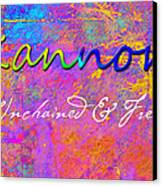 Kannon - Unchained And Free Canvas Print