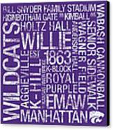 Kansas State College Colors Subway Art Canvas Print by Replay Photos