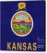 Kansas State Flag Canvas Print by Pixel Chimp