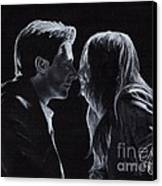 Karen Gillan And Arthur Darvill Canvas Print by Rosalinda Markle