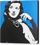 Katharine Hepburn  Canvas Print by Juan Molina