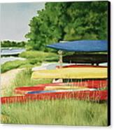 Kayaks In Limbo Canvas Print