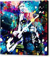 Keith Richards Canvas Print by Rosalina Atanasova