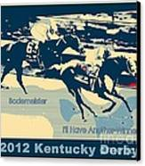 Kentucky Derby Champion Canvas Print by RJ Aguilar