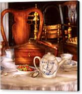 Kettle -  Have Some Tea - Chinese Tea Set Canvas Print by Mike Savad