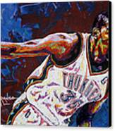 Kevin Durant Canvas Print by Maria Arango