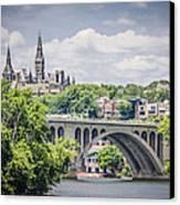 Key Bridge And Georgetown University Canvas Print