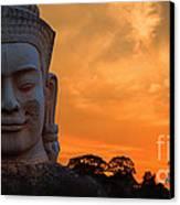 Khmer Sunrise Canvas Print by Pete Reynolds