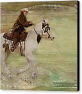 Kicking Up Some Dirt Canvas Print by Susan Candelario