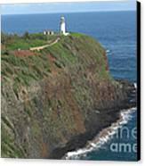 Kilauea Lighthouse Canvas Print by Deborah Smolinske