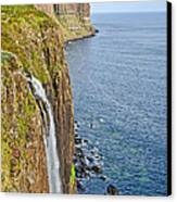 Kilt Rock Waterfall Canvas Print by Chris Thaxter