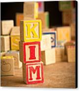Kim - Alphabet Blocks Canvas Print by Edward Fielding