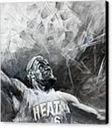 King James Lebron Canvas Print by Ylli Haruni