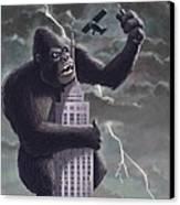 King Kong Plane Swatter Canvas Print by Martin Davey