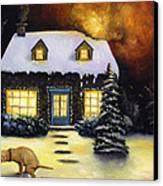 Kinkade's Worst Nightmare Canvas Print by Leah Saulnier The Painting Maniac