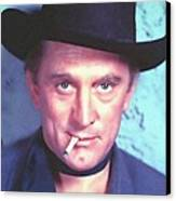 Kirk Douglas In Man Without A Star Canvas Print by Art Cinema Gallery