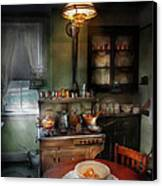 Kitchen - 1908 Kitchen Canvas Print by Mike Savad