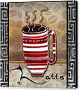 Kitchen Cuisine Hot Cuppa Coffee Cup Mug Latte Drink By Romi And Megan Canvas Print by Megan Duncanson