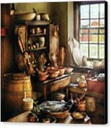 Kitchen - Nothing Like Home Cooking Canvas Print by Mike Savad