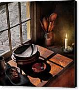 Kitchen - On A Table II  Canvas Print by Mike Savad
