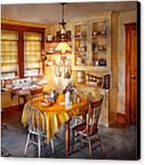 Kitchen - Typical Farm Kitchen  Canvas Print by Mike Savad