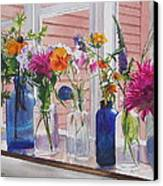 Kitchen Window Sill Canvas Print by Karol Wyckoff