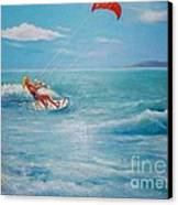 Kite Serf Canvas Print