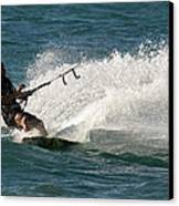 Kite Surfer 04 Canvas Print by Rick Piper Photography
