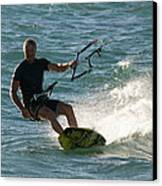 Kite Surfer 05 Canvas Print by Rick Piper Photography